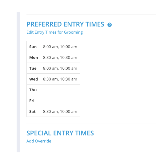 pooled entry times