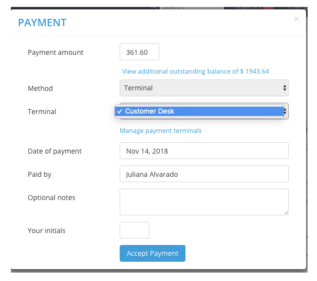 process payment
