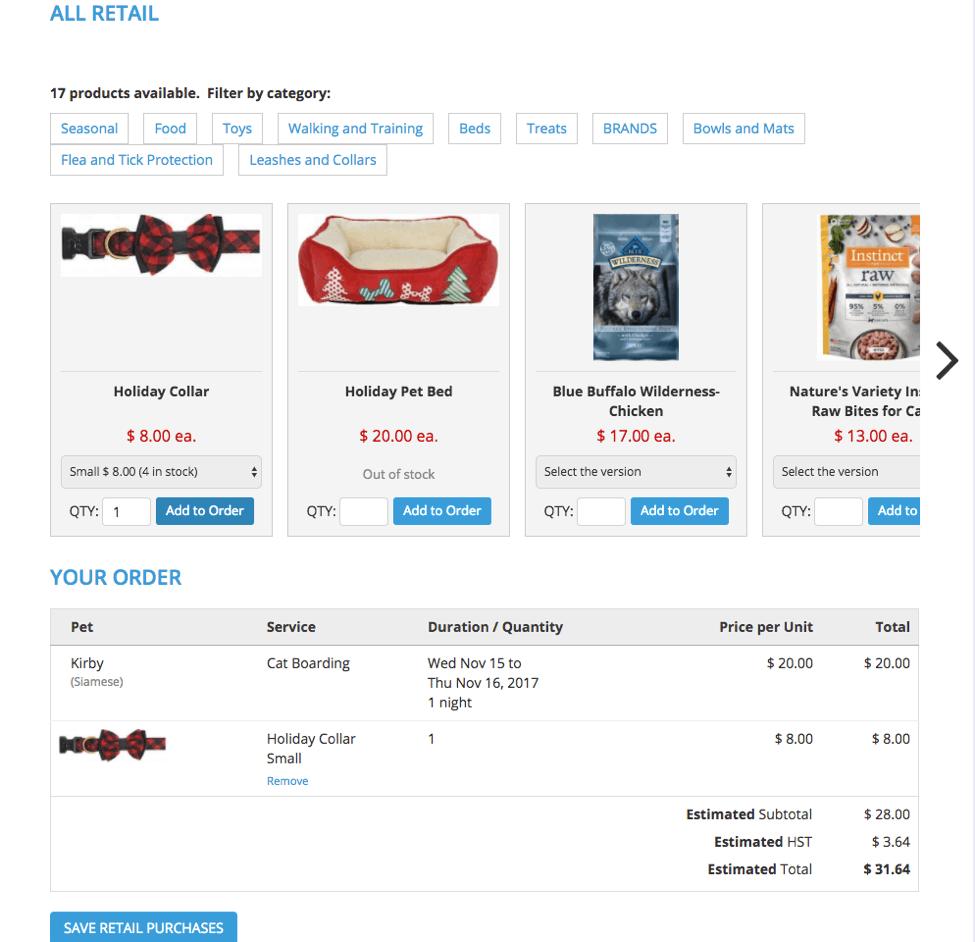 buy online retail customer portal