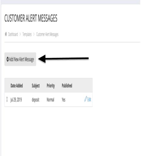 How do I add a customer alert message? 3